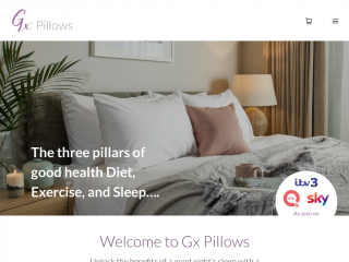 gxpillows.co.uk screenshot