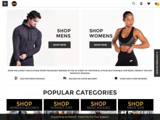 gymwear.co.uk screenshot