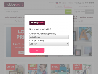 hobbycraft.co.uk screenshot