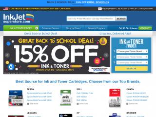 inkjetsuperstore.com screenshot