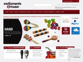instruments4music.co.uk screenshot