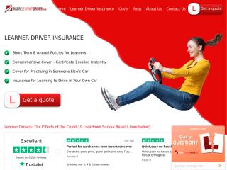 insurelearnerdriver.co.uk screenshot