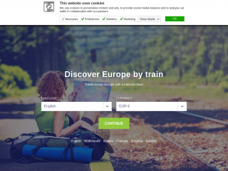 interrail.eu screenshot