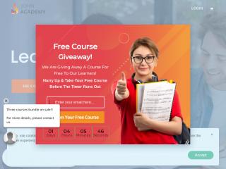 johnacademy.co.uk screenshot