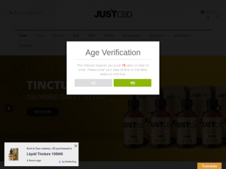 justcbdstore.com screenshot