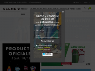 kelme.com screenshot