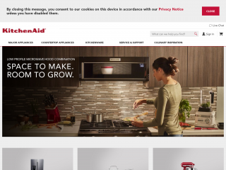 kitchenaid.com screenshot