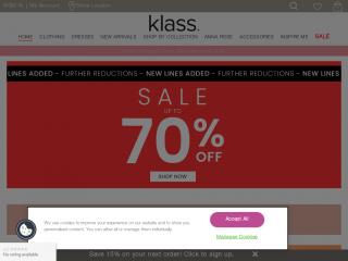 klass.co.uk screenshot