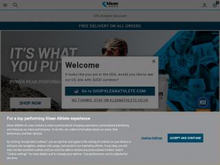 kleanathlete.co.uk screenshot