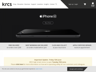 krcs.co.uk screenshot
