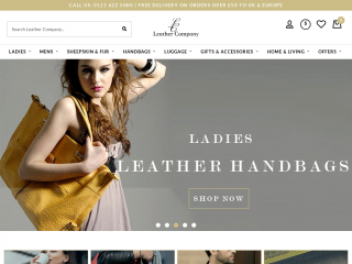 leathercompany.co.uk screenshot