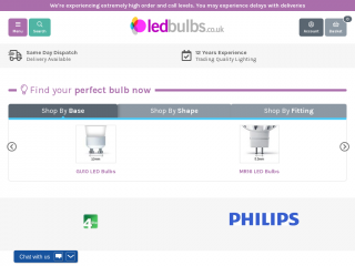 ledbulbs.co.uk screenshot