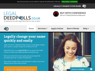 legal-deedpolls.co.uk screenshot