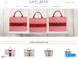 lilyandbean.co.uk screenshot