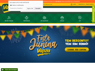 loja.vapza.com.br screenshot