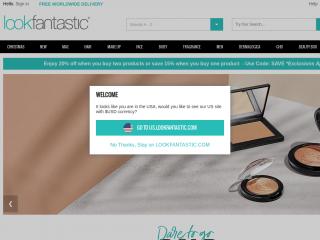 lookfantastic.com screenshot