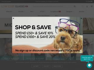 lowcostglasses.co.uk screenshot