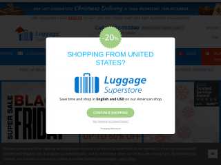 luggagesuperstore.co.uk screenshot