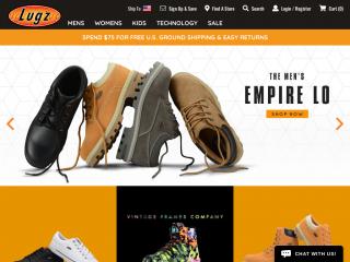 lugz.com screenshot