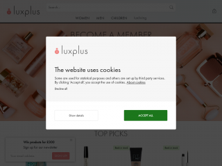 luxplus.co.uk screenshot