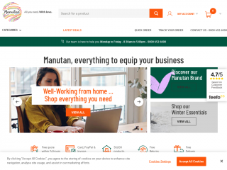 manutan.co.uk screenshot
