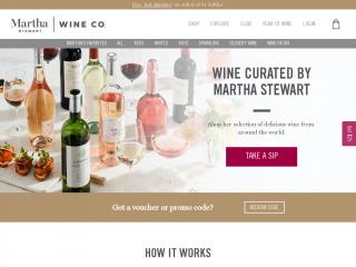 marthastewartwine.com screenshot