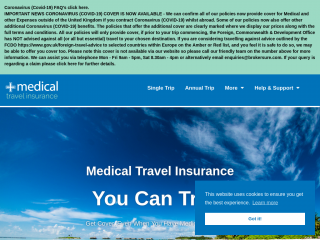 medicaltravelinsurance.co.uk screenshot