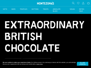 montezumas.co.uk screenshot