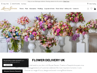 moysesflowers.co.uk screenshot