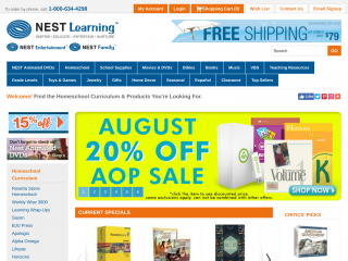 nestlearning.com screenshot