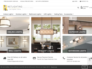 netlighting.co.uk screenshot