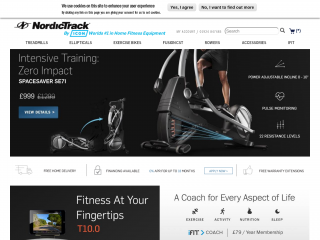 nordictrack.co.uk screenshot