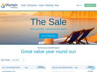 olympicholidays.com screenshot