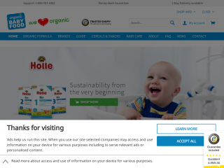 organicbabyfood24.de screenshot