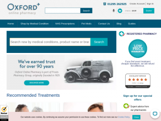 oxfordonlinepharmacy.co.uk screenshot