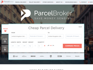 parcelbroker.co.uk screenshot