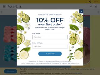 partylite.co.uk screenshot