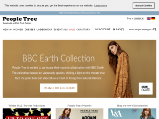 peopletree.co.uk screenshot