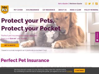perfectpetinsurance.co.uk screenshot
