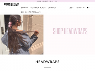 perpetualshade.com screenshot