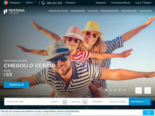 pestana.com screenshot