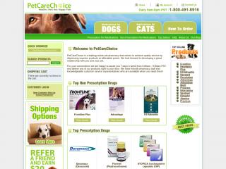 petcarechoice.com screenshot