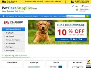 petcaresupplies.com screenshot