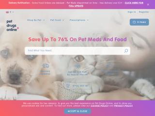 petdrugsonline.co.uk screenshot