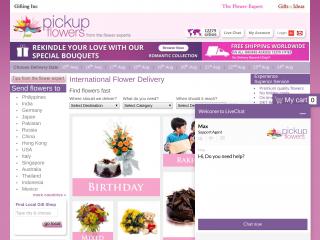 pickupflowers.com screenshot