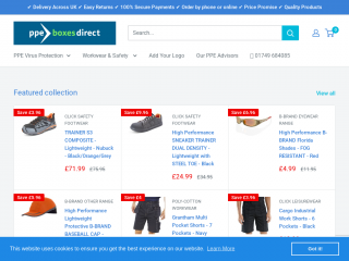 ppeboxesdirect.co.uk screenshot