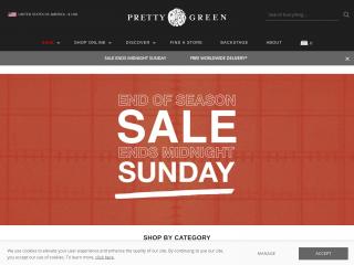 prettygreen.com screenshot