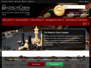 regencychess.co.uk screenshot