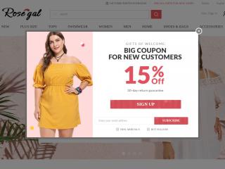 rosegal.com screenshot