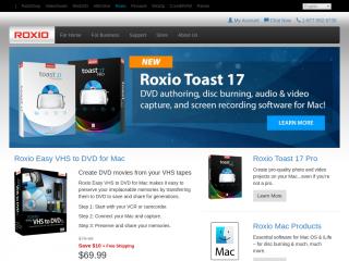 roxio.com screenshot